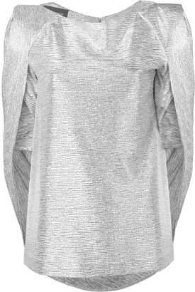 Talbot Runhof mirrorball metallic cape top
