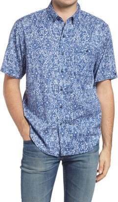 Tommy Bahama Oasis Ikat Short Sleeve Button-Down Shirt