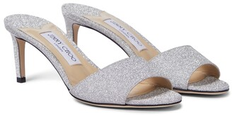 Jimmy Choo Stacey 65 glitter sandals