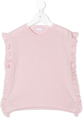 Il Gufo Frill-Trimmed Knitted Vest