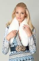 Hale Bob Evian Fox Fur Shawl Collar