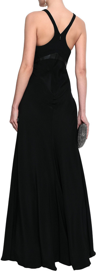 Thumbnail for your product : Roberto Cavalli Elaphe-paneled Stretch-silk Crepe Gown