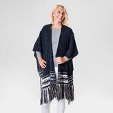 Muk Luks Women's Knit Fringe Ruana