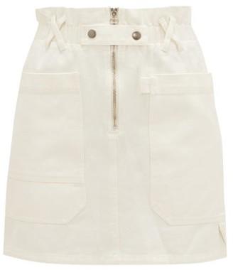 Sea Mara Paperbag-waist Cotton-twill Mini Skirt - Womens - White