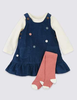 Marks and Spencer 3 Piece Cotton Polka Dot Outfit