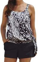 Eternatastic Women Spot Polka Dot Tankini Swimwear Two Pieces Swimsuit Set L