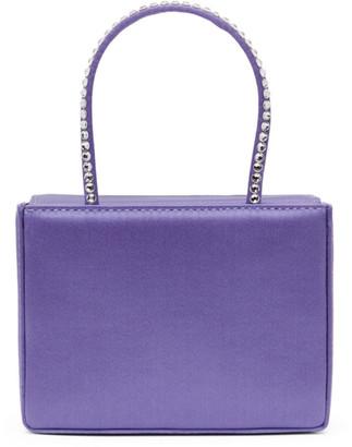 Amina Muaddi Purple Super Amini Gilda Bag