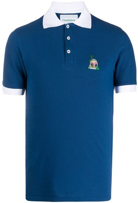 Casablanca Contrast Collar Polo Shirt
