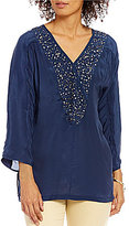 Sigrid Olsen Signature Sequin V-Neck Tunic