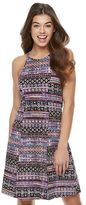 Mudd Juniors' Print Strappy Halter Dress