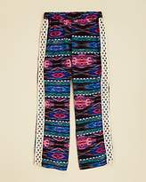 Vintage Havana Girls' Printed Crochet Side Pants - Big Kid