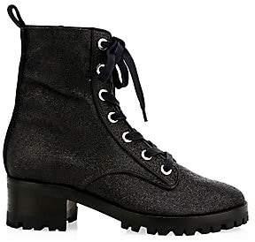 Schutz Women's Poinsetia Sparkle Combat Boots