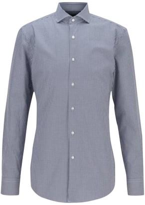 HUGO BOSS Slim-Fit Jason Micro Gingham Dress Shirt