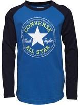 Converse Junior Boys Chuck Patch Raglan T-Shirt Oxygen Blue