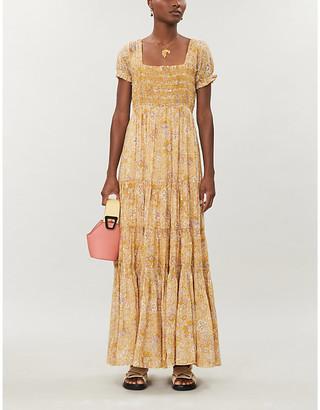 Free People Getaway floral-pattern cotton midi dress