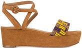 Aquazzura Havana flatform sandals - women - Leather/Suede - 36