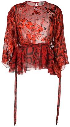 Preen by Thornton Bregazzi Delma snakeskin prit blouse