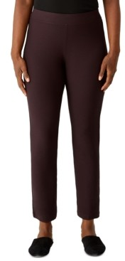 Eileen Fisher Slim Pull-On Ankle Pants