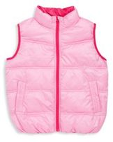 One Kid Toddler's, Little Girl's & Girl's Packable Vest
