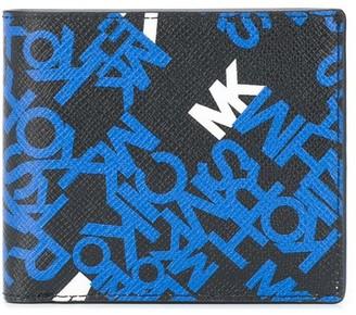 Michael Kors Brooklyn logo crossgrain billfold wallet