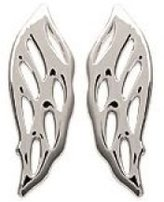 Mary Jane MaryJane Earrings Width 4 Mm Height 13 Mm 925 000 Rhodium Plated Wings Angel