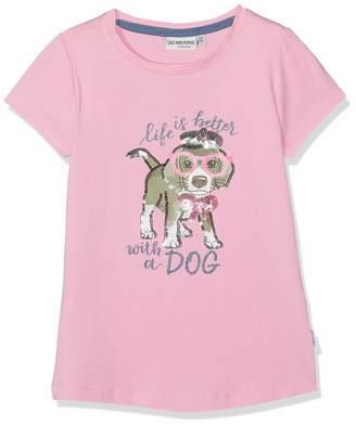 Salt&Pepper Salt and Pepper Girls' T-Shirt Friend uni Hund Glitte
