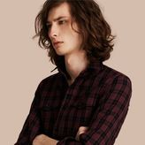 Burberry Black Watch Check Wool Blend Shirt