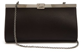 Christian Louboutin Palmette Satin Clutch - Black