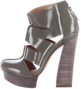 Rachel Zoe Patent Leather Ankle Boots