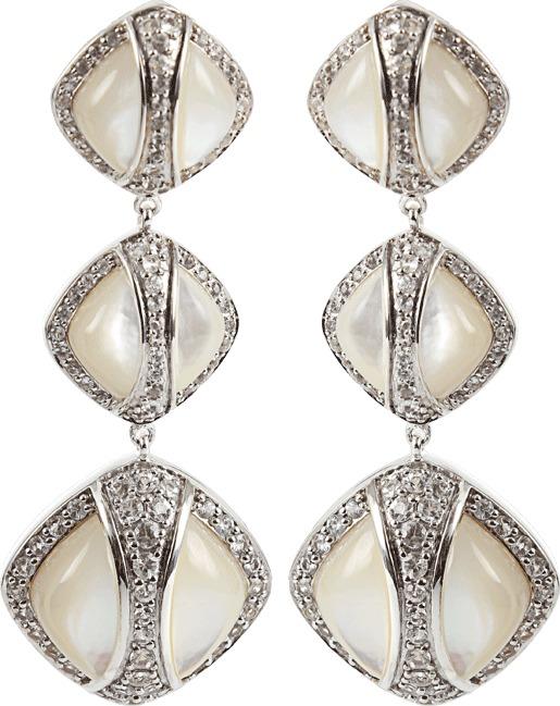 Kara Ross Deco Triple Drop Earrings