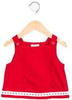 Cacharel Girls' Woven-Accented Sleeveless Top