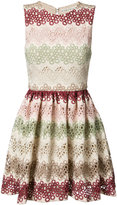 Alice + Olivia Alice+Olivia - zigzag lace mini-dress - women - Polyester/Spandex/Elastane - 6