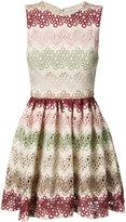 Alice + Olivia Alice+Olivia - zigzag lace mini-dress - women - Polyester/Spandex/Elastane - 8