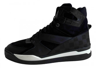 Louis Vuitton Trainer Sneaker Boot High Black Cloth Trainers