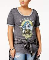 Hybrid Trendy Plus Size Wonder Woman Graphic T-Shirt