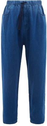 Gucci Oversized Drawstring Jeans - Mens - Blue