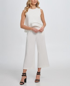 DKNY Sleeveless Popover Jumpsuit