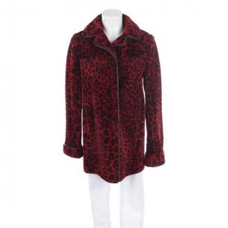 Miu Miu Red Fur Coat for Women