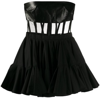 David Koma strapless A-line cocktail dress