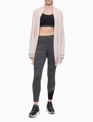 Calvin Klein Performance High Waist Colorblock Reflective Logo 7/8 Leggings