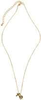 Forever 21 Cross And Leaf Mini Charm Necklace