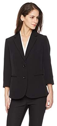 3/4 Sleeve Two Buttons Light Weight Shoulder Pad Blazer
