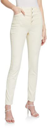 A.L.C. Aiden High-Rise Skinny Button Fly Pants