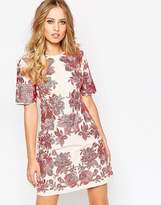 Asos Floral Embroidered Shift Dress