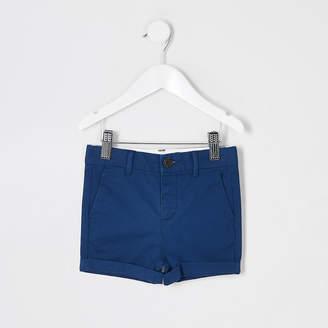 River Island Mini boys navy chino shorts