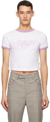 Marc by Marc Jacobs White and Purple Heaven by Marc Jacobs Bubble Logo Baby T-Shirt