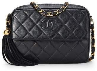 Chanel Black Quilted Lambskin Pocket Camera Bag Medium