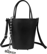 Alexander Wang Roxy tote black smooth calf with iron finish