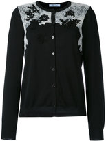 Blumarine lace detail cardigan - women - Cotton/Polyamide/Viscose - 44