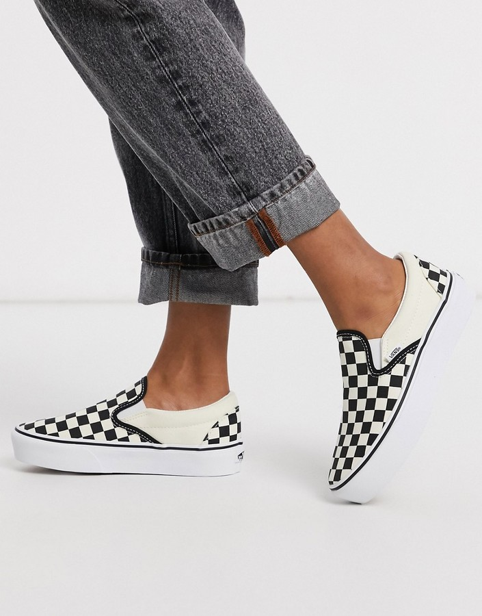 Womens Vans Checkerboard Slip On | Shop the world's largest ...